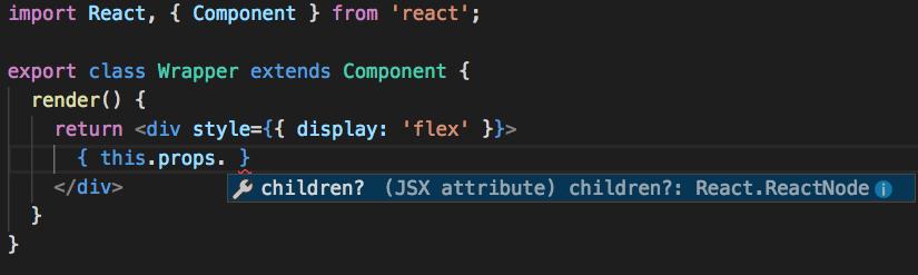 Typescript react default props