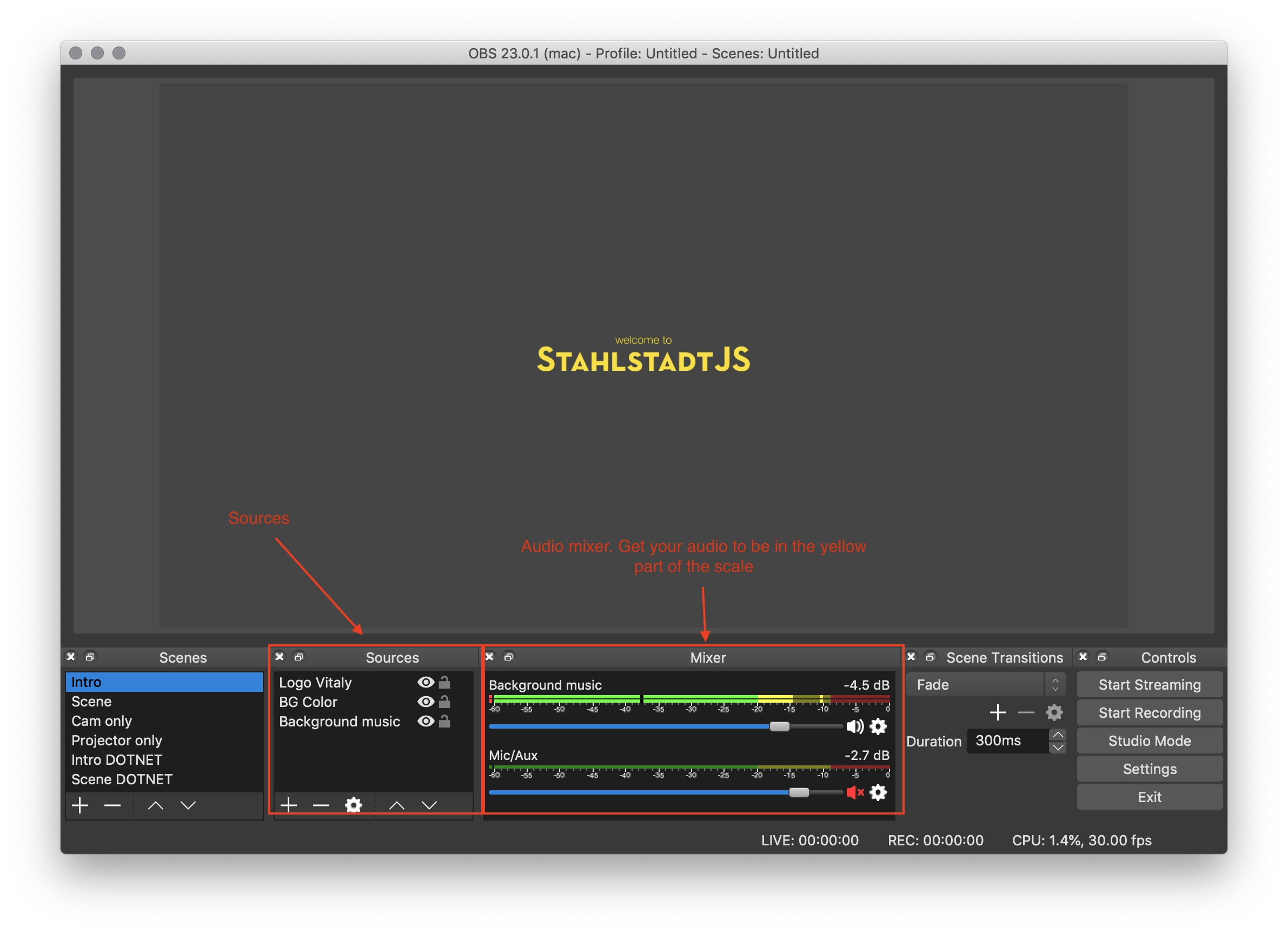 Streaming your Meetup - Part 4: Directing and Streaming with OBS
